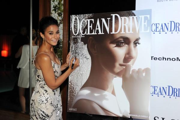 Ocean Drive Magazine Release With Emmanuelle Chriqui – 6.6.15